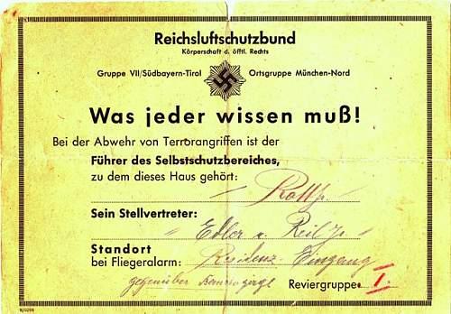 Reichsluftschutzbund Notice