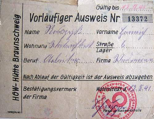 Click image for larger version.  Name:HG Ausweis 1941 Neugame sub-camp.jpg Views:115 Size:156.0 KB ID:15733