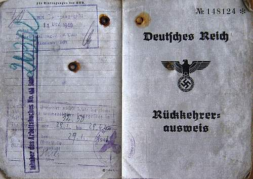 Click image for larger version.  Name:Ruckkehrer Ausweis 1940 cover..jpg Views:170 Size:248.9 KB ID:15772