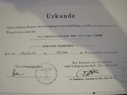 Strange Ahnenerbe Document