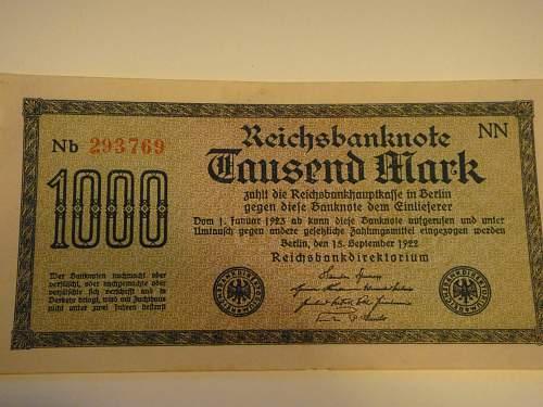 Pre-War II Reichsmarks
