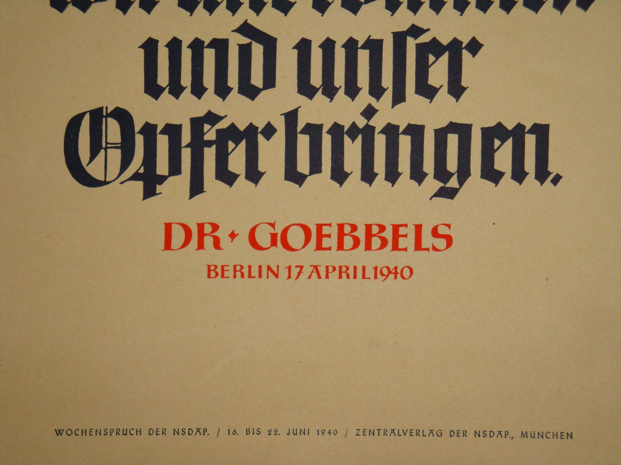 Joseph Goebbels Propaganda Posters Drk propaganda poster: