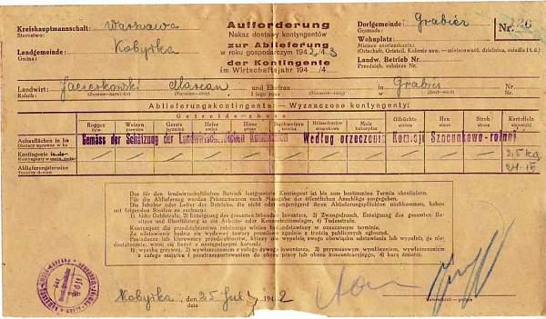 Receipt from occupied Poland??