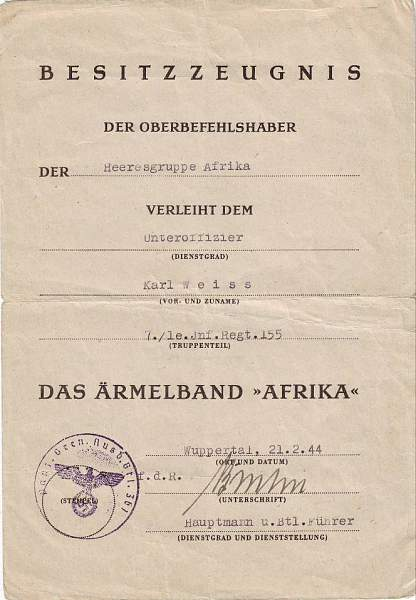 Afrika Korps Heeresgruppe C/T doc