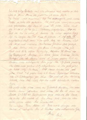 Need a letter translated that may have been my Grandfathers  last.