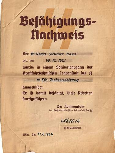 Click image for larger version.  Name:WWII German Motor School Certificate 1000.jpg Views:1229 Size:119.4 KB ID:185937