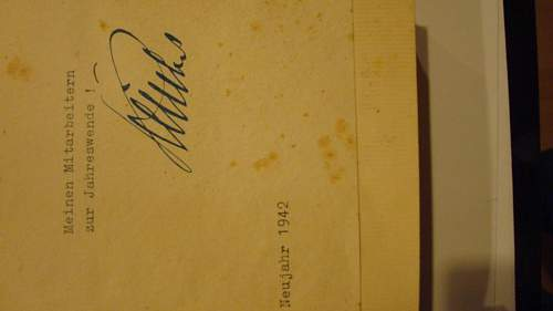 1941 Mein Kampf edition - Signed by Josef Burckel and Stamped with Nazi Insignia