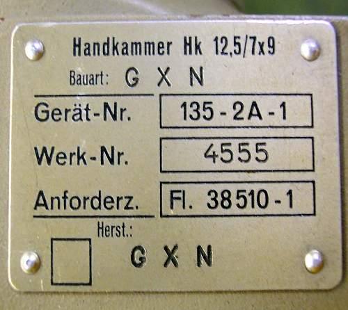 Luftwaffe Aerial Camera?