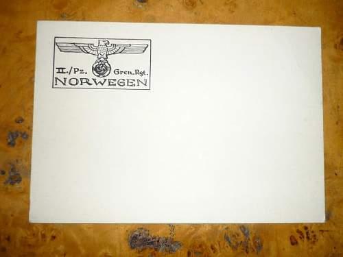 II.Pz.Gren.Rgt.Norwegen card
