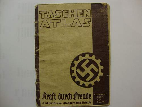 "Kraft durch Freude ""Tasche Atlas"""