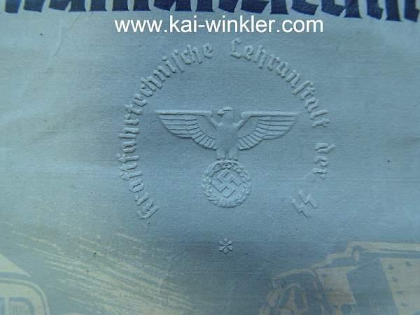 Rare SS Proficiency Motor School Award