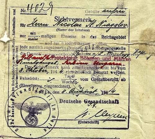 Some help with German hand-writing....visa