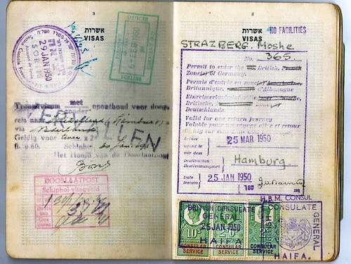 Visa for occupied Germany - 1950