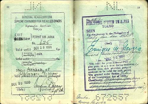 Dutch Special-Passport for former Jew in hiding...