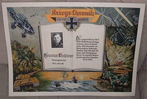 WW2 Kriegs Chronik