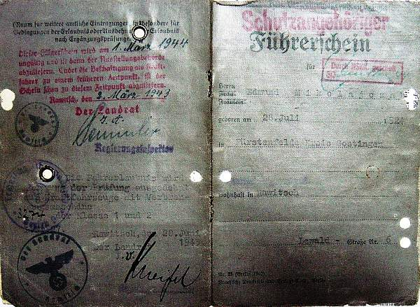 Fuhrerschein for Schutzangehoriker