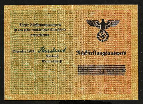 Entlaserungschein SS Dutch volunteer