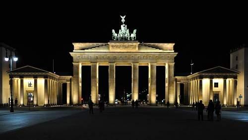 Brandenburg Gate - Then and now