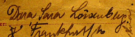 German name in hand writing