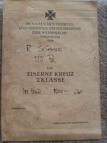 EKII award document: not sure real or fake?