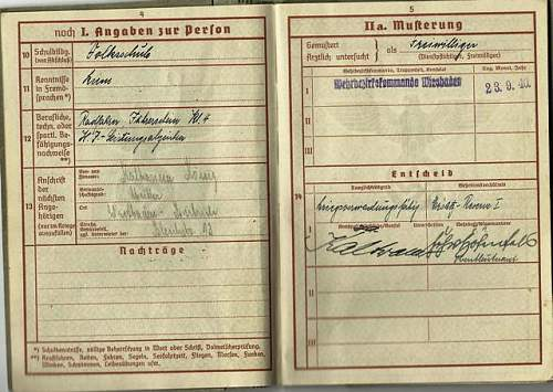 Help needed p;ease with this German soldiers service record.