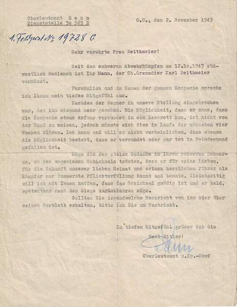 Infanterie Sturmabzeichen document & Papers