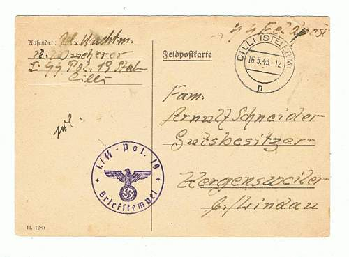 SS feldpost cover and feldpost karte. real?