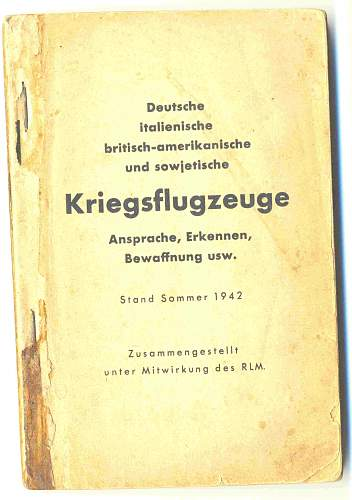 WWII Aircraft Reference Book in German, 1942