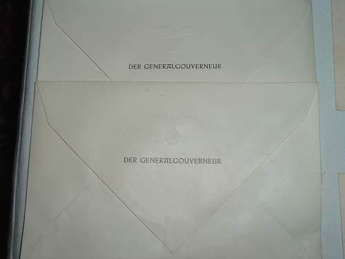 Generalgouvernement Hans Frank envelopes & invitations