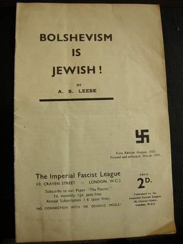 The Imperial Facist League - Rare British Pamphlet