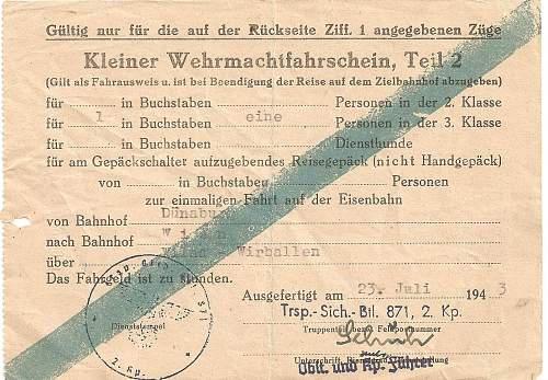 Soldier's Train Ticket?
