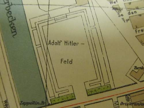 May 1944 map of Leipzig