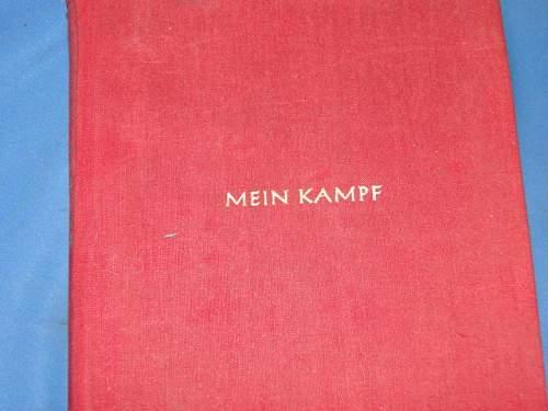 Wwii german mein kampf book