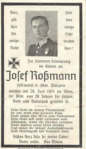 Click image for larger version.  Name:Pz 33death card Josef rossman.jpg Views:56 Size:238.5 KB ID:231593