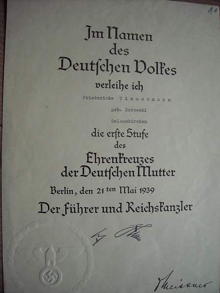 Doc group of the mutterkreuz 1ste stuffe
