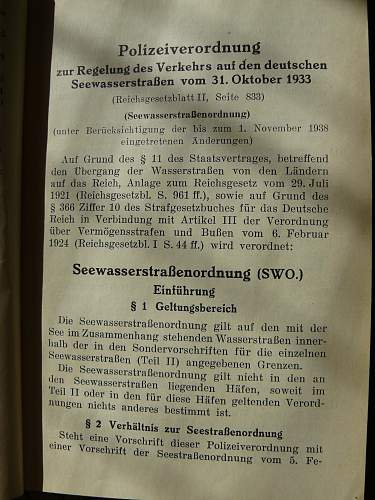 Translation help with SeewasserstraBenordnung ??? rules regulation manual