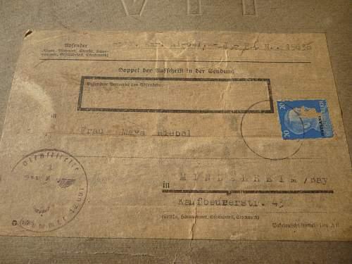help with an Feldpostnummer from Reichskomissariat Ostland