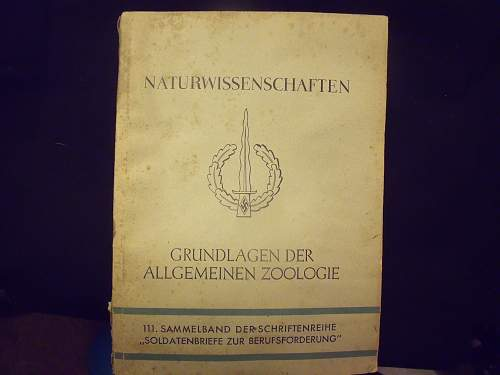 Wehrmacht  Book on Zoology