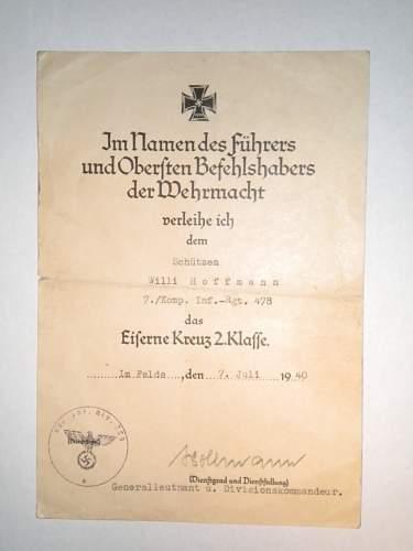 EKII Award Document