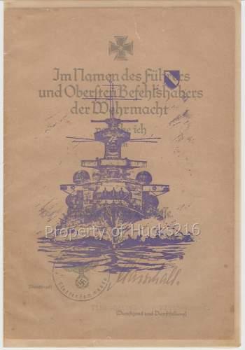 EK Citation Set To Scharnhorst Second-In-Command