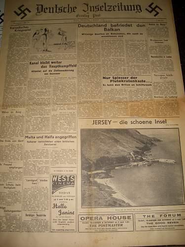 Deutsche Inselzeitung from Jersey Channel Islands