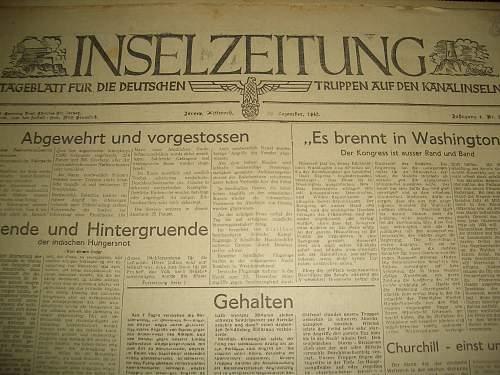 Deutsche Inzelzeitung from Jersey Channel Islands
