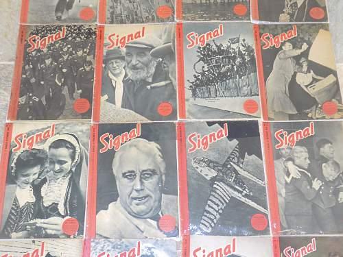 """""""Signal"""" propaganda magazines."""