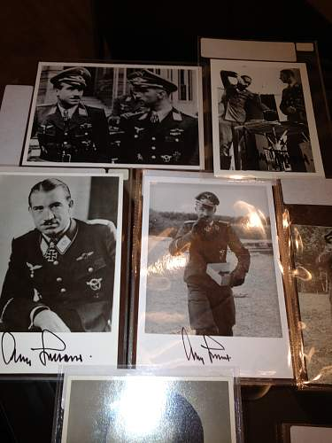 My little Autographed Knight's Cross award winners collection.