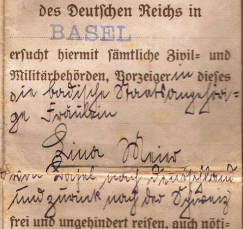 some help with old German hand writing....passport