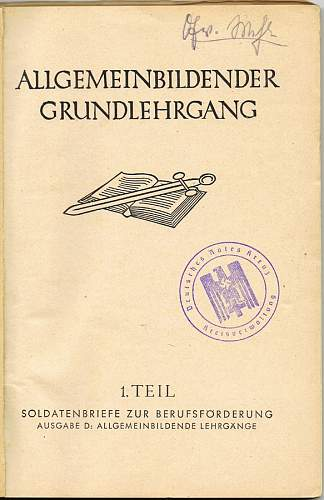 Allgemeinbildender Grundlehrgang 1. Teil (Wehrmact Lesson Book???)