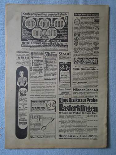 Click image for larger version.  Name:Deutsche Kriegsopferverforgung - Juli 1938 (rear).JPG Views:181 Size:193.3 KB ID:275706