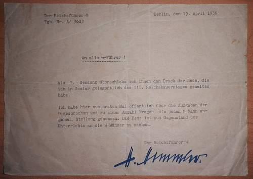 Himmlers signature