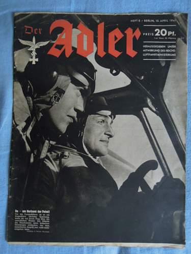 Click image for larger version.  Name:Der Adler - 10.April 1941 (front).JPG Views:222 Size:192.1 KB ID:286854