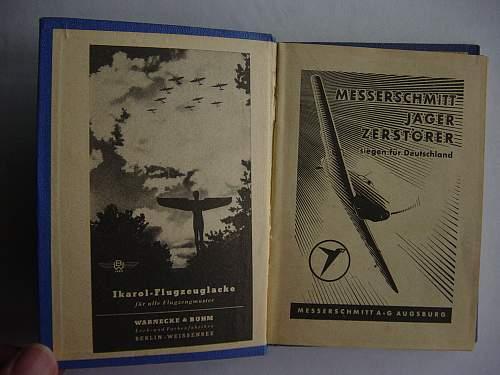 Luftwaffe pocket calendar for 1942